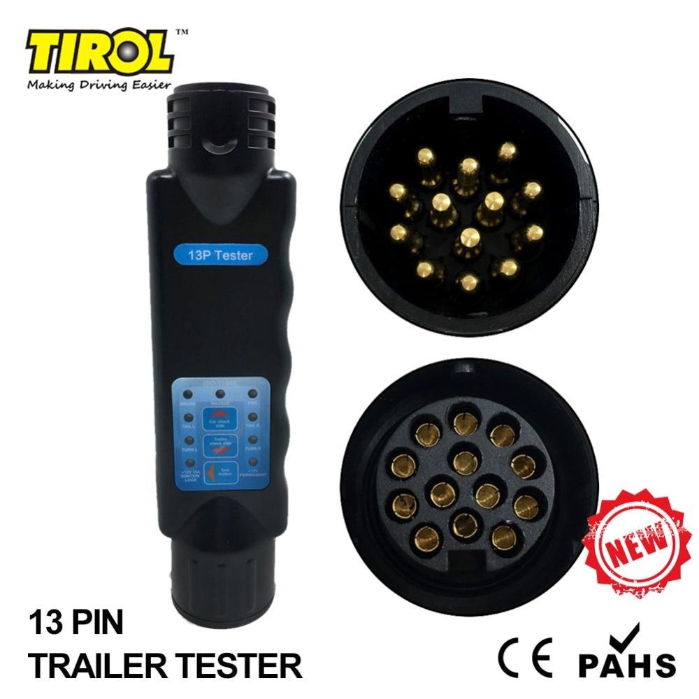 hight resolution of tirol 13 pin towing trailer car caravan tow bar light circuit tester unit for plug socket