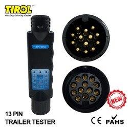 TIROL 13 Pin Abschleppen Anhänger Auto Caravan Tow Bar Licht Circuit-Tester Einheit für Steckdose verbindung 12 N T23331b