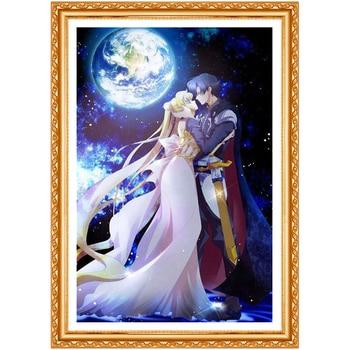 5d diamond embroidery Sailor Moon diamond painting cross stitch Diamond Home Decoration