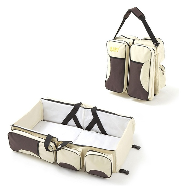 Baby 3 In 1 Portable Bassinet Diaper Bag And Change Station With Ed Sheet