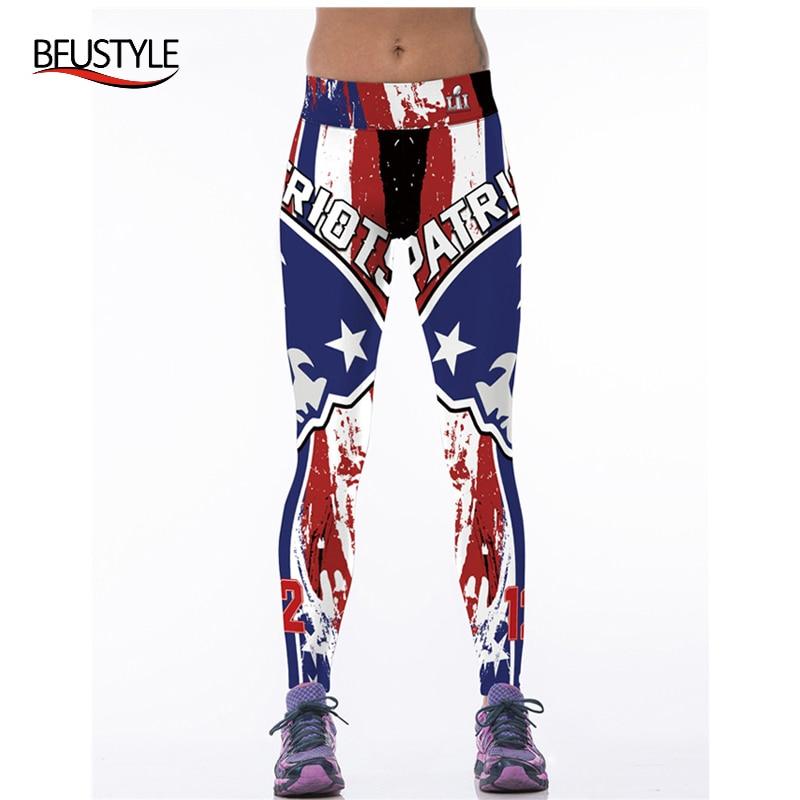 Prix pour Fitness Pantalons De Football Américain Patriots Raiders 3D Imprimé Sport Leggings Dropship Pantalon De Yoga De L'exercice Femmes Collants Running
