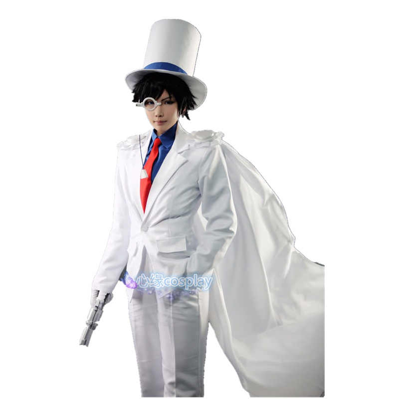 DETECTIVE CONAN Kaito Kid the Phantom Thief Magia Uniformes Cosplay Traje 7/lot
