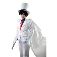 DETECTIVE CONAN Magic Kaito Kid the Phantom Thief Uniforms Cosplay Costume 7/lot