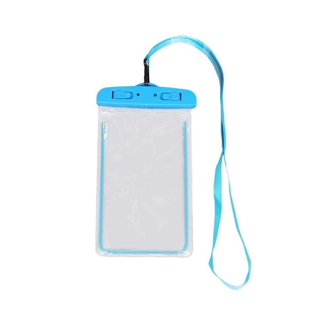 Сумки для плавания водонепроницаемая сумка со светящимся подводным чехлом чехол для телефона iphone 6 6s 7 8 Универсальные Все модели 3,5 дюймов-6 дюймов