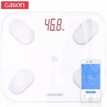 GASON S4 Bilancia Piano Scientifica Smart LED Elettronico Digitale del Peso di Grasso Corporeo Bagno Equilibrio Bluetooth APP Android o IOS