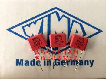 2019 hot sale 10pcs/20pcs Germany WIMA MKS4 250V 0.22UF 250V 224 220n P: 10mm Audio capacitor free shipping фото