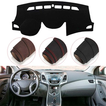Console Dashboard Suede Mat Protector Sunshield Cover Fit For Hyundai Elantra Avante 2011-2015