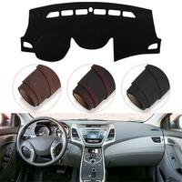 Console Dashboard Suede Mat Protector Sunshield Cover Fit For Hyundai Elantra Avante 2011 2015
