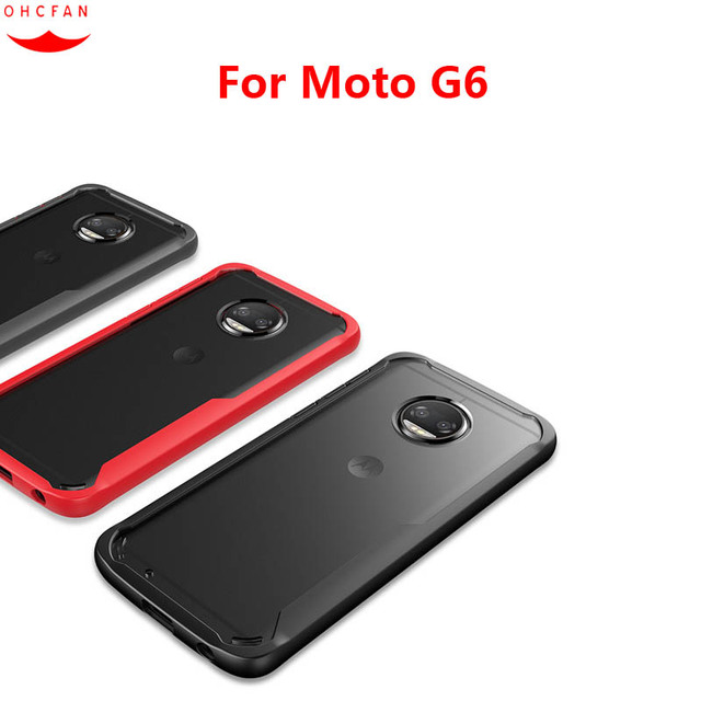 half off 709a7 ac7f9 US $5.99 |Luxury Slim TPU Acrylic Case For Motorola Moto G6 Case Cover For  Moto G6 Transparent Clear Phone Cases for Moto G6 Fundas 5.7
