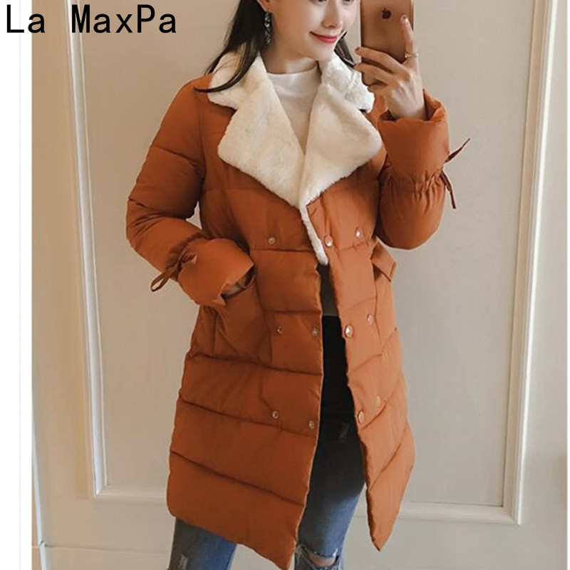 2017 Free Shipping New Autumn Winter Women Fashion Coat Slim Padded Jacket Black Yellow Pink Slim Cool Coats Sobretudo feminino 2017 free shipping new autumn winter long down big fur coat padded slim women fashion high street coats