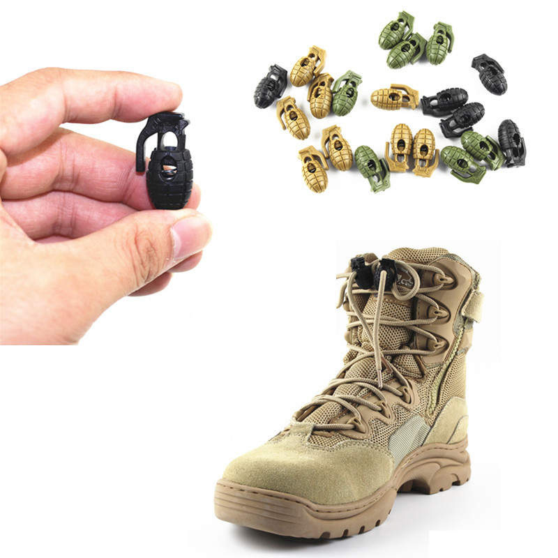 4 Psc/Lot Tactical Outdoor Hiking Boots Shoelace Tightening Non-Slip Shoe Lace Buckle Clip Camp EDC Gear