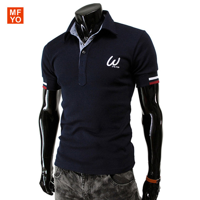 2016 Summer New Arrival Men's Polos Fashion Personality Embroidered Logo Decoration Short-Sleeve Polo Men Casual Slim polo homme