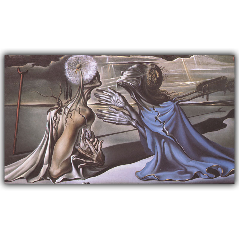 Salvador Dali Surrealism Abstract Painting Art Vintage Posters Photos Home Decoration Silk HH170