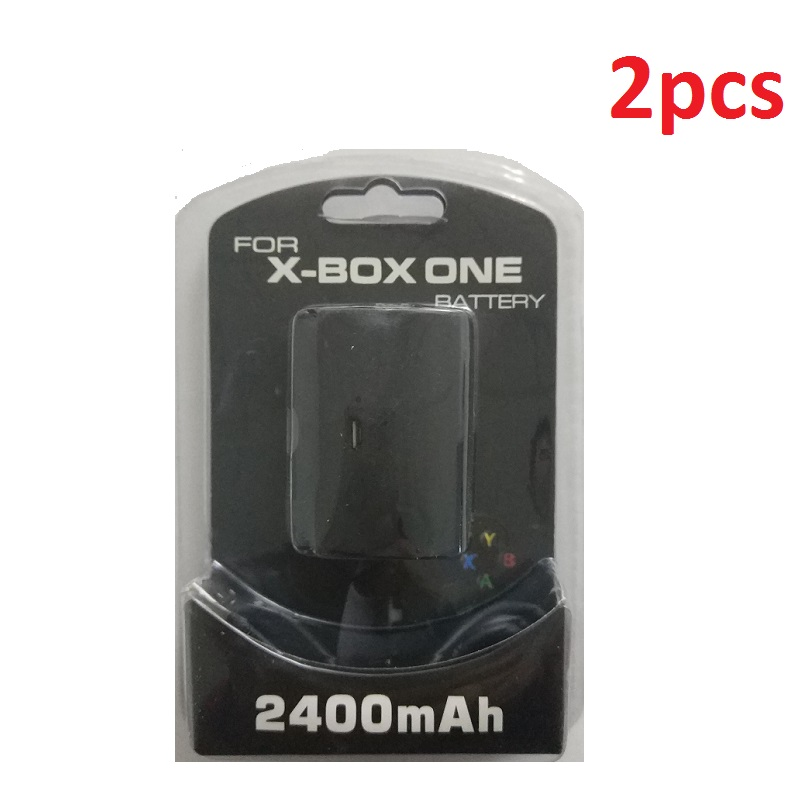2Pcs 2400mAh Battery Pack+Charger Cable For Xbox One Game Wireless Controller Rechargeable Batteries Replacement Wholesale