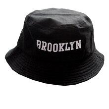 2017 Letter BROOKLYN Embroidery Bucket Hat Fisherman Hats Men Women Outer Summer Street Hip Hop Dancer Cotton Panama City Hat