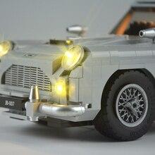technic Ford Mustang light 10262 Aston Martin  Technic Series Race Car Building Assembled Blocks Bricks Enlighten Toys