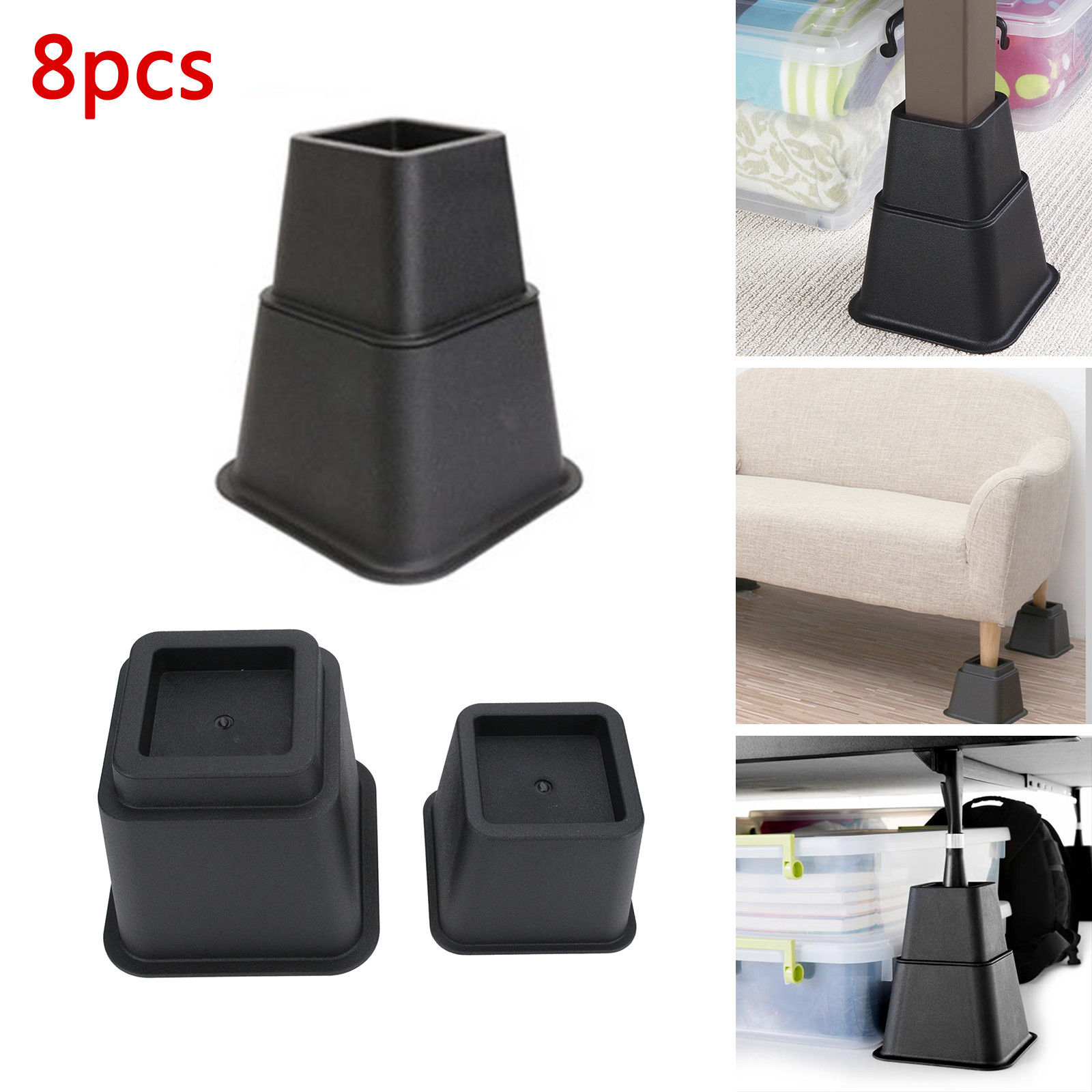 8pcs Height Space Riser Chair Feet Modular Adjustable Plastic Bed Furniture UK  Rubber Feet  Chair Cover Caps8pcs Height Space Riser Chair Feet Modular Adjustable Plastic Bed Furniture UK  Rubber Feet  Chair Cover Caps