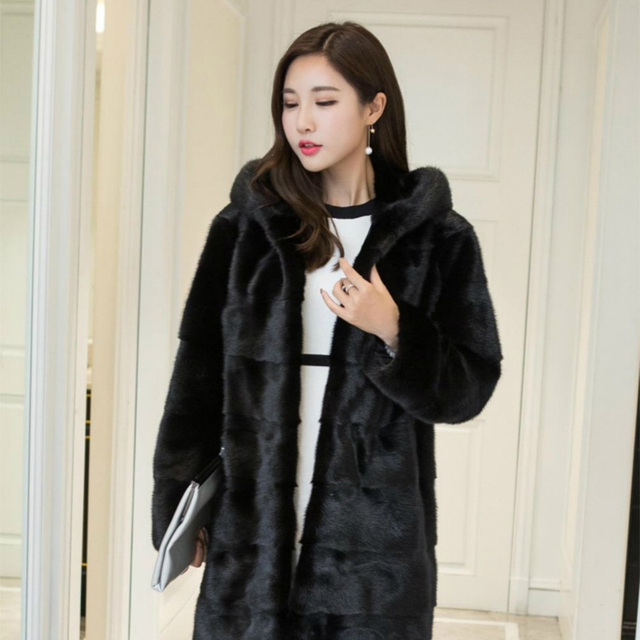 Special Long Type Women Real Mink Coats Ladies Natural Genuine Fur ...