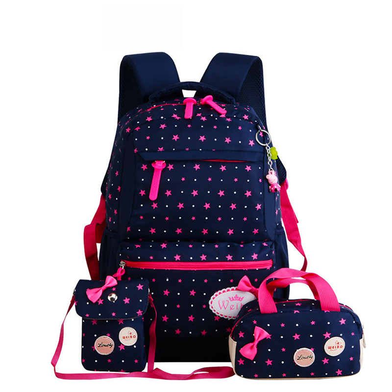 Teenagers Girls Lightweight Waterproof School Bags Star Printing Children School Backpacks Child Orthopedics Schoolbag Bolsa