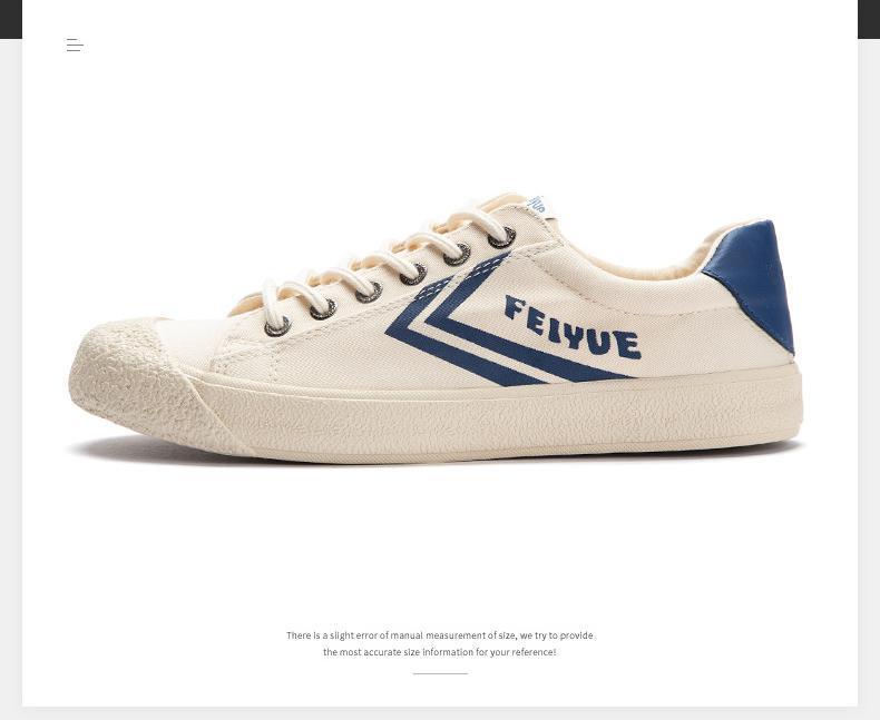 Feiyue shoes New classic Martial arts Tai Chi canvas shoes Rubber shoes men women sneakers 8