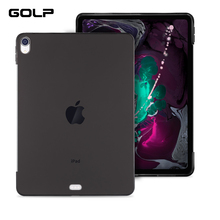 Case for iPad Pro 12.9 2018 Cover, GOLP Full protection Soft Silicone TPU Back Cover For