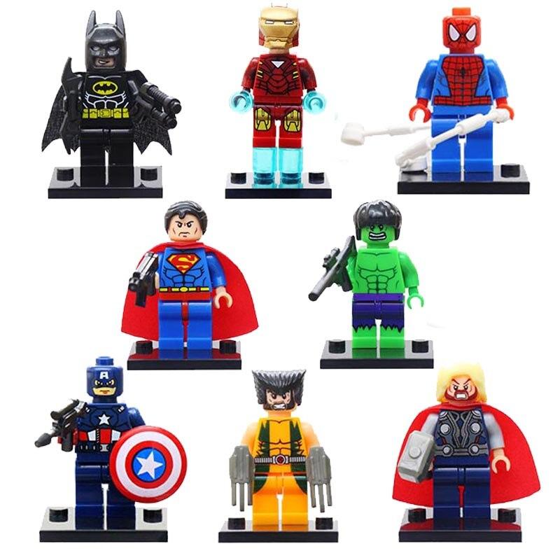 Super Heroes Justice League Figures Toys Batman Legoings Super Heroes Blocks Toy