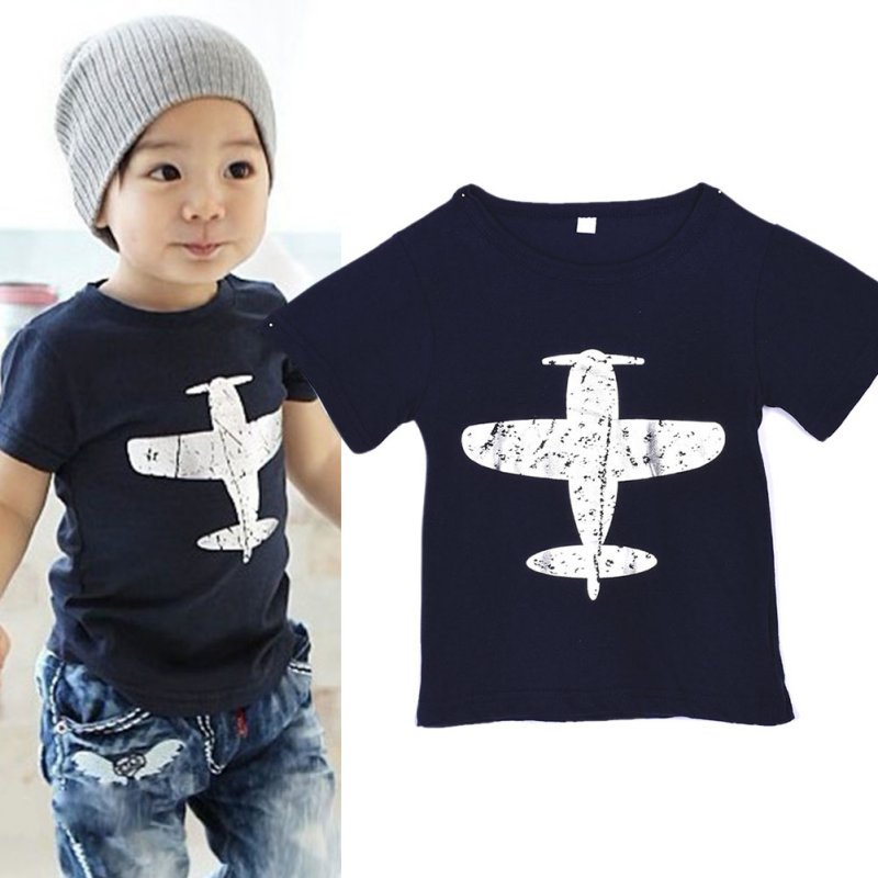 Children-BabyKids-Boys-T-Shirt-Short-Sleeved-Plane-Tees-Cotton-Tops-Cartoon-Clothing-3