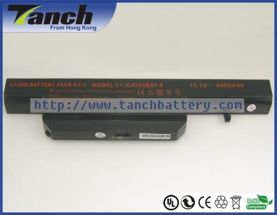 Laptop batterijen voor CLEVO C4500BAT-6 C4500Q 6-87-C480S-4G41 w240hu - Notebook accessoires