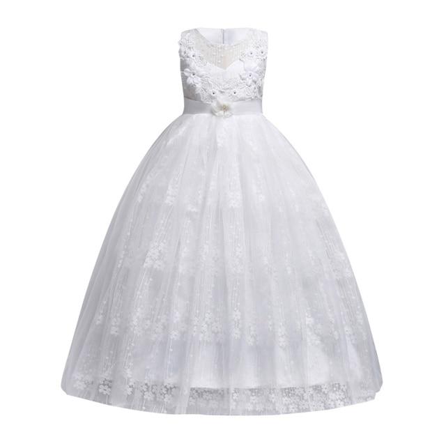 f3ca36a179 Koronkowa Suknia Ślubna Dziewczyna Dzieci Dziewczyna Księżniczka Sukienka  Elegancki Strona Formalna Vestido Dzieci Dziewczyny Sukienki Letnie