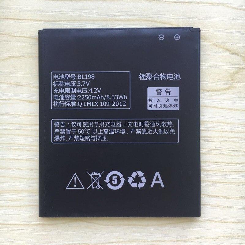 In Stock!! 2250mAh for BL198 Rechargable Battery for Lenovo S890 A850 S880 K860 S880i Smart Phone