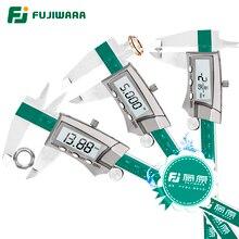 Фудзивара цифровой Дисплей Нержавеющаясталь суппорт 0-150 мм 1/64 доли/дюйм/миллиметра IP54 Высокоточный 0,01 мм