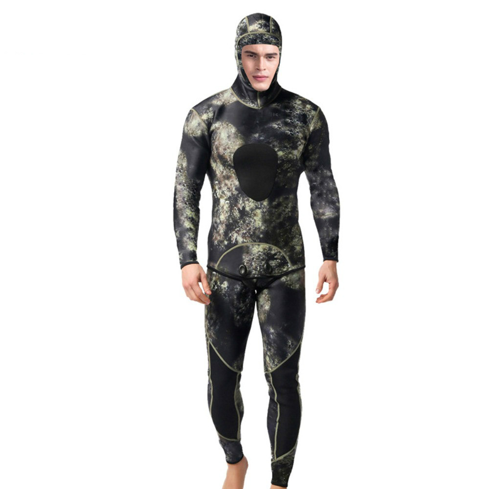 цена Professional 3mm Swim Wetsuits Men's Diving Suit Split Scuba Snorkel Swimsuit Spearfishing Surfing Jumpsuit Equipment