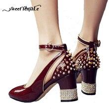 2018 Printemps Automne Nouvelle Marque Chaussures Femmes Pompes Haute talons  De Mode en cuir Véritable Gladiateur 8d9735e41636
