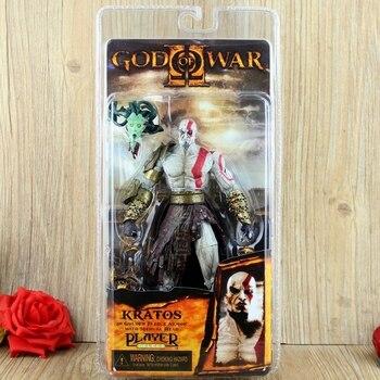 NECA dios de la guerra figura Kratos figura de acción Kratos en armadura de Vellón Dorado con cabeza de Medusa juguete de 18 cm