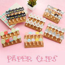 Mini Cartoon Wood Clips Paper Photo Decoration Clips Clothespin Pegs