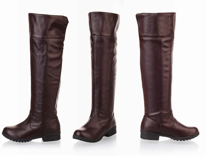 Attack on Titan Cosplay Brown Long Boots
