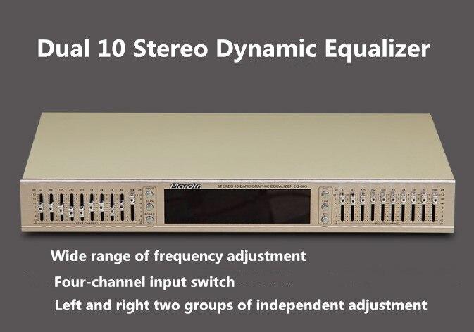 EQ665 égaliseur hifi fièvre maison égaliseur EQ double 10 bandes stéréo aigus Alto réglage des basses - 2