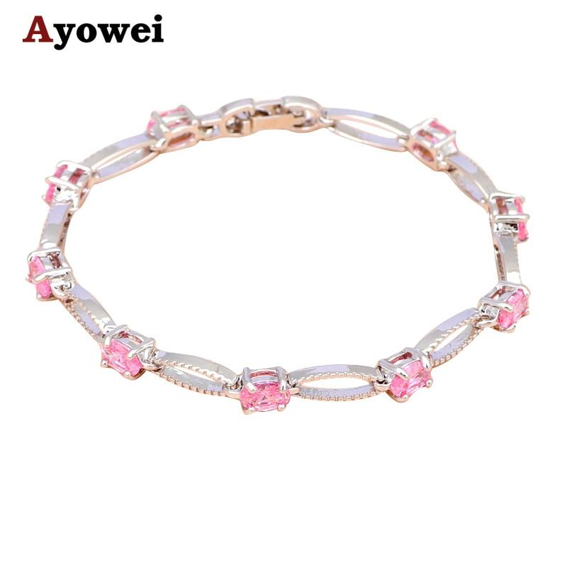 Cativante Pink Crystal Charme Pulseiras Preço de Custo TBS958A Jantar    Partido Moda Jóias de Prata para As Mulheres c9a55e7724