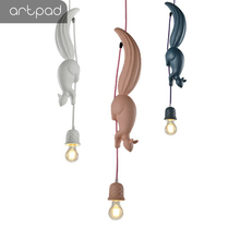 Nordic Creative Hanglamp Cute Squirrel Pendnat Light for Children Room Kitchen Living Restaurant Pendant Lighting Fixture
