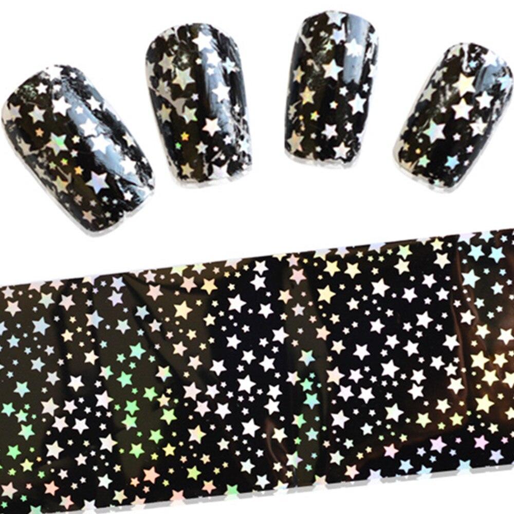 100cmx4cm Nail Art Beauty Polish Stickers Nail Foils Transfer Shinning Little Stars Decals DIY Full Women Nail Tools SASTZXK45