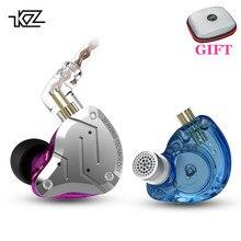 KZ ZS10 Pro металлическая гарнитура 4BA + 1DD гибридные блоки HIFI бас наушники в ухо монитор наушники шумоподавление наушники KZ ZSN AS16