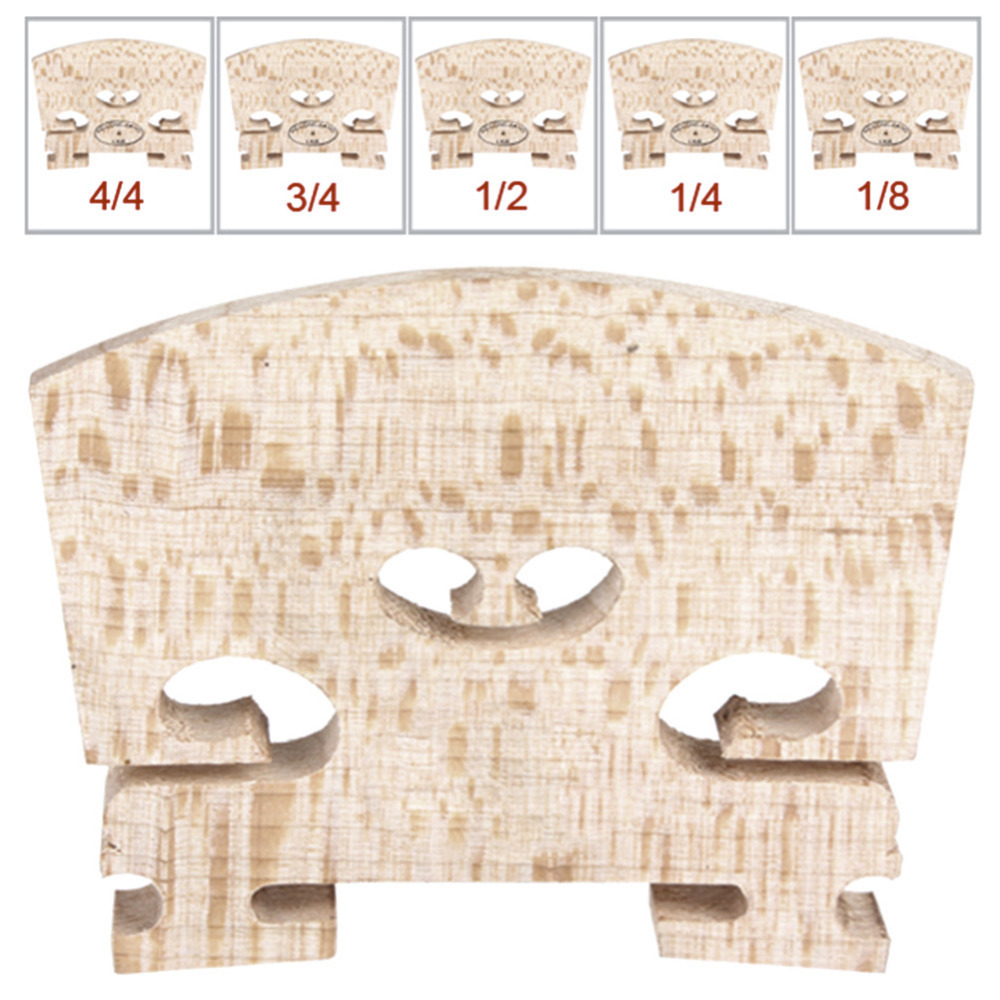 Maple Wood Acoustic Violin Bridge Regular Type 1/16 1/8 1/4 1/2 3/4 4/4 Size For Violin Strings Instrument Part Accessories