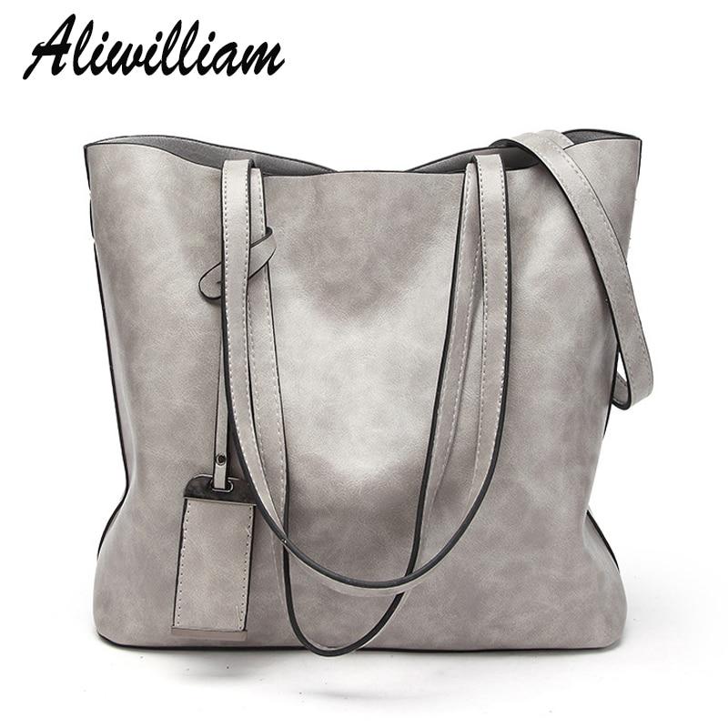 Aliwilliam Brand Luxury Handbags Fashion Woman Top-handle Bags PU Leather Female Shoulder Bags Large Capacity Women Totes Bag