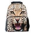 2015 горячая 3D тигр школьные сумки для детей мужская дорожная сумка, дети животных школьный для мальчиков, Мультфильм школа Рюкзак для детей mochila