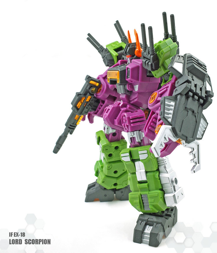 цена IN Stock 18CM G1 Iron Factory IF-EX18 LordScorpion Lord Scorpion Scorponok IronFactory Transformation Action Figure