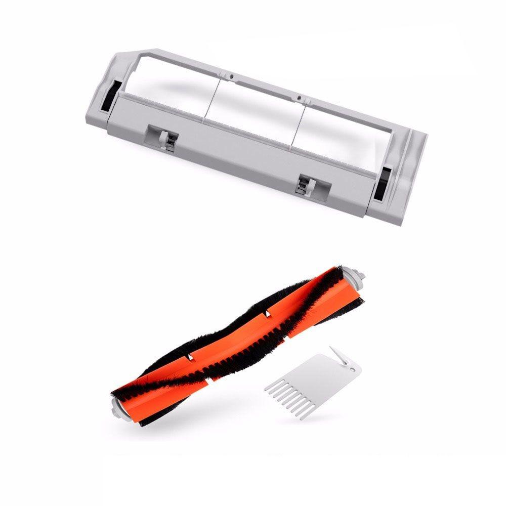 все цены на For Xiaomi Robotic Rolling Brush Cover Main Brush Box + Main Brush + tool for xiaomi vacuum replace xiaomi mi Robot Original
