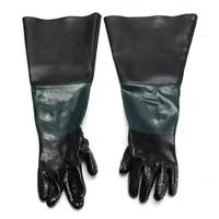 1 Pair 60cm Durable Sandblasting Gloves Heavy Duty Work Gloves For Sandblaster Sand Blast Cabinet
