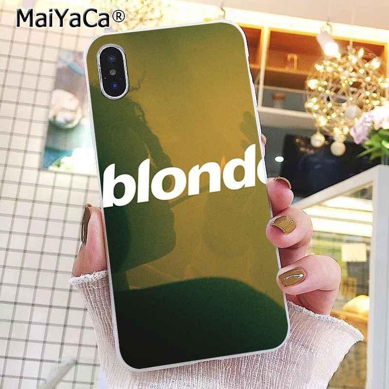 Coque de téléphone MaiYaCa Frank Ocean Blonde Photo pour iphone 11 Pro 11Pro Max 8 7 6 6S Plus X XS MAX 5 5S SE XR