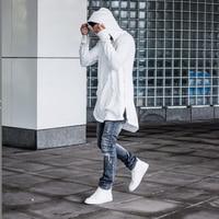 Envmenst 2019 Autumn Hoodies Full Sleeve Kangaroo Pocket Side Zippers Streetwear Hip Hop Pullover Men Sudaderas Hombre