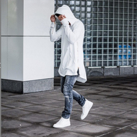 Envmenst 2019 Autumn Hoodies Full Sleeve Kangaroo Pocket Side Zippers Streetwear Hip Hop Pullover Men Sudaderas Hombre